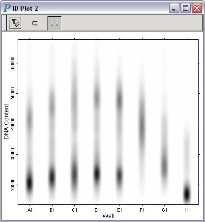 a b&w impressionist density plot with for hcs visual discovery.